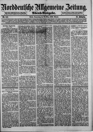 Norddeutsche allgemeine Zeitung on Mar 25, 1886