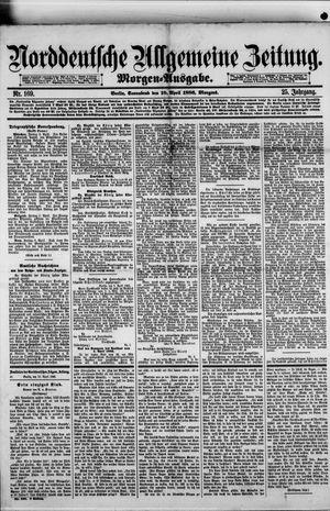 Norddeutsche allgemeine Zeitung vom 10.04.1886