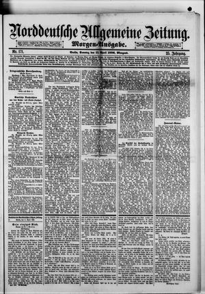 Norddeutsche allgemeine Zeitung vom 11.04.1886