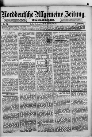 Norddeutsche allgemeine Zeitung vom 13.04.1886