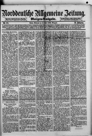Norddeutsche allgemeine Zeitung on Apr 14, 1886
