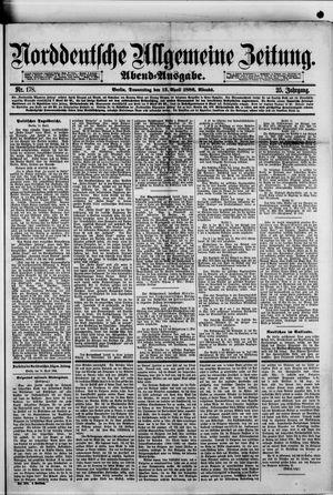 Norddeutsche allgemeine Zeitung vom 15.04.1886