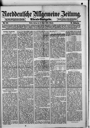 Norddeutsche allgemeine Zeitung vom 16.04.1886