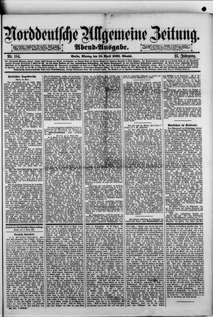 Norddeutsche allgemeine Zeitung vom 19.04.1886