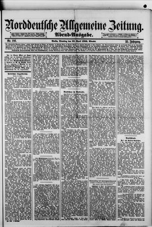 Norddeutsche allgemeine Zeitung vom 20.04.1886