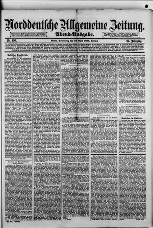 Norddeutsche allgemeine Zeitung vom 22.04.1886