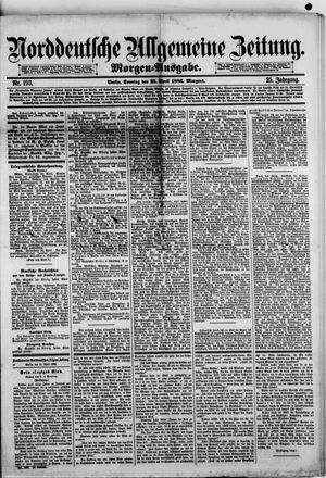 Norddeutsche allgemeine Zeitung on Apr 25, 1886