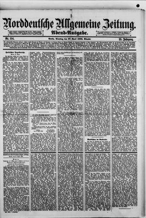 Norddeutsche allgemeine Zeitung vom 27.04.1886