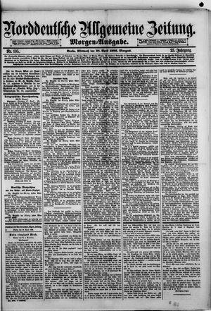 Norddeutsche allgemeine Zeitung vom 28.04.1886
