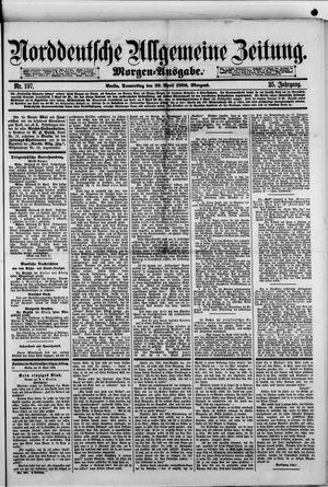 Norddeutsche allgemeine Zeitung vom 29.04.1886