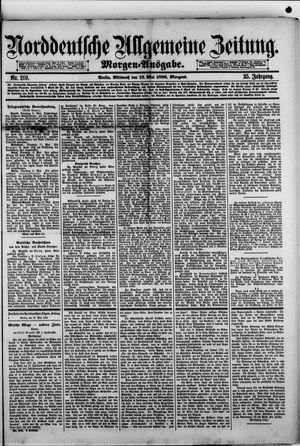 Norddeutsche allgemeine Zeitung vom 12.05.1886