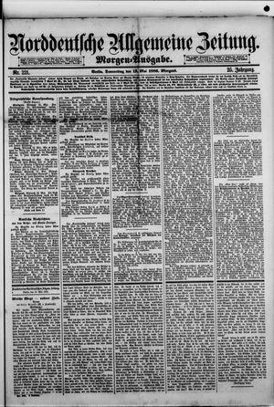 Norddeutsche allgemeine Zeitung vom 13.05.1886