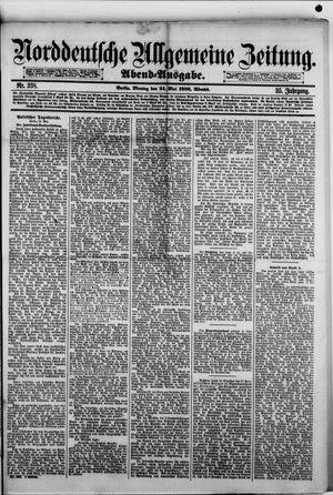 Norddeutsche allgemeine Zeitung vom 24.05.1886