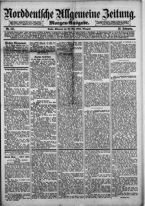 Norddeutsche allgemeine Zeitung vom 26.05.1886