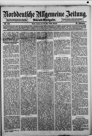 Norddeutsche allgemeine Zeitung vom 28.05.1886