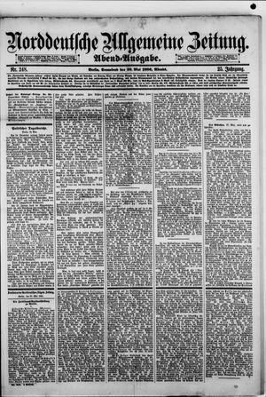 Norddeutsche allgemeine Zeitung vom 29.05.1886