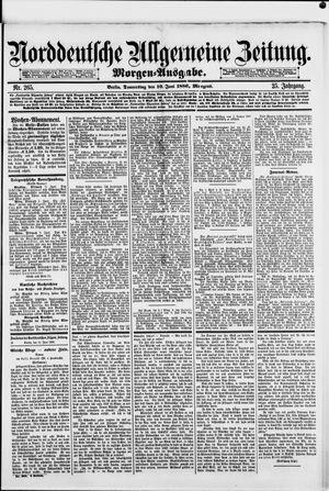 Norddeutsche allgemeine Zeitung vom 10.06.1886