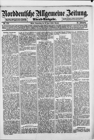 Norddeutsche allgemeine Zeitung vom 17.06.1886