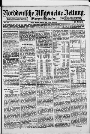 Norddeutsche allgemeine Zeitung vom 20.06.1886
