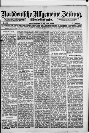 Norddeutsche allgemeine Zeitung vom 21.06.1886