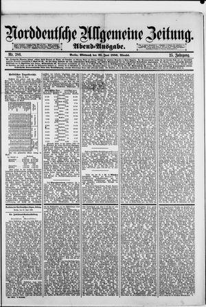 Norddeutsche allgemeine Zeitung vom 23.06.1886