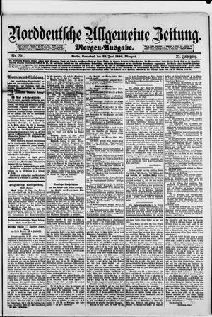 Norddeutsche allgemeine Zeitung vom 26.06.1886
