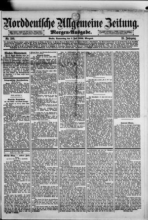 Norddeutsche allgemeine Zeitung vom 01.07.1886