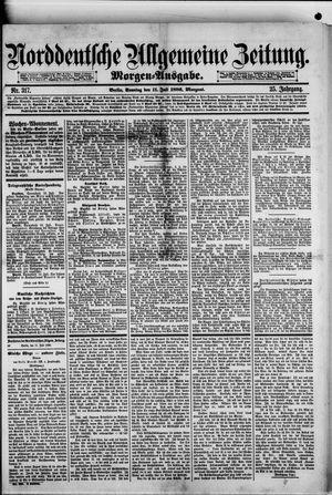 Norddeutsche allgemeine Zeitung vom 11.07.1886