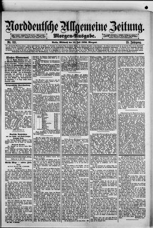 Norddeutsche allgemeine Zeitung vom 14.07.1886