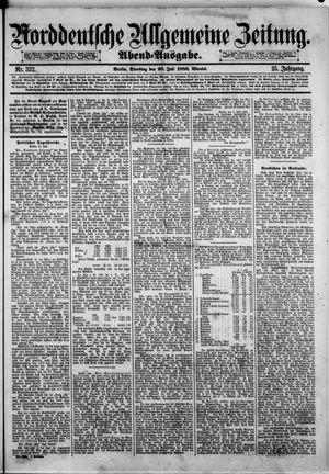 Norddeutsche allgemeine Zeitung vom 20.07.1886