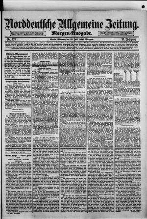 Norddeutsche allgemeine Zeitung vom 21.07.1886