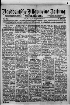 Norddeutsche allgemeine Zeitung vom 22.07.1886