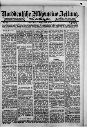 Norddeutsche allgemeine Zeitung vom 23.07.1886