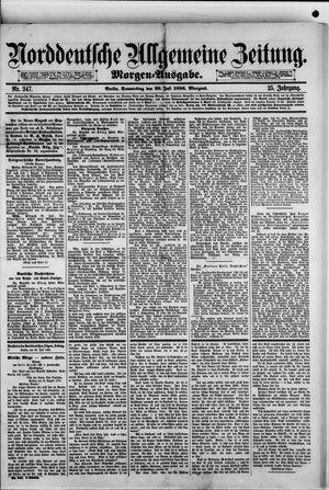 Norddeutsche allgemeine Zeitung vom 29.07.1886