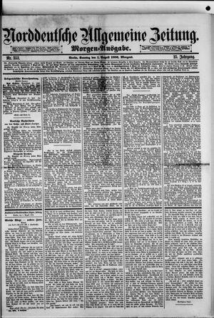 Norddeutsche allgemeine Zeitung vom 01.08.1886