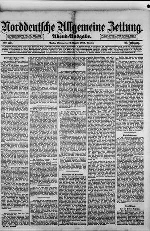 Norddeutsche allgemeine Zeitung vom 02.08.1886