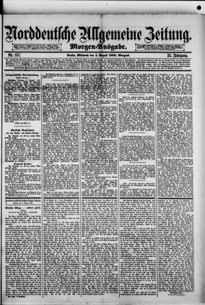 Norddeutsche allgemeine Zeitung vom 04.08.1886