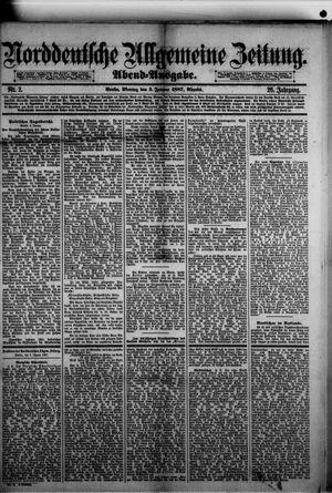 Norddeutsche allgemeine Zeitung vom 03.01.1887