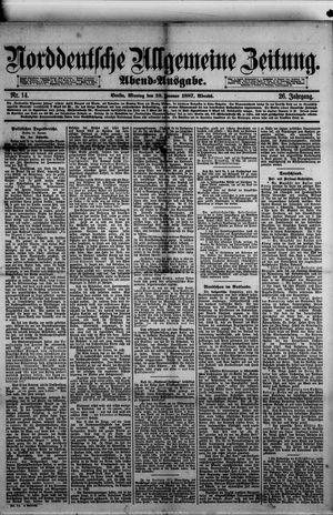Norddeutsche allgemeine Zeitung vom 10.01.1887