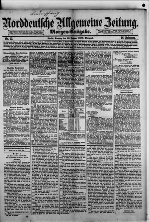 Norddeutsche allgemeine Zeitung on Jan 16, 1887