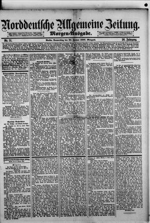 Norddeutsche allgemeine Zeitung vom 20.01.1887