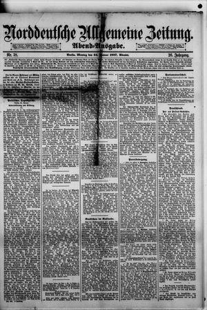 Norddeutsche allgemeine Zeitung vom 24.01.1887