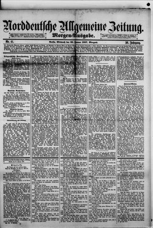 Norddeutsche allgemeine Zeitung vom 26.01.1887
