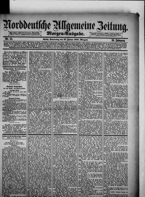 Norddeutsche allgemeine Zeitung vom 27.01.1887