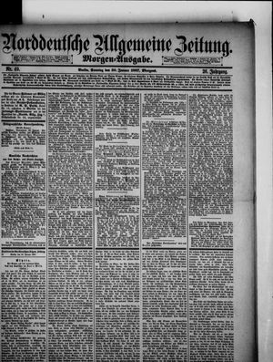 Norddeutsche allgemeine Zeitung vom 30.01.1887