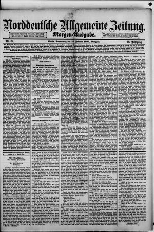Norddeutsche allgemeine Zeitung vom 10.02.1887