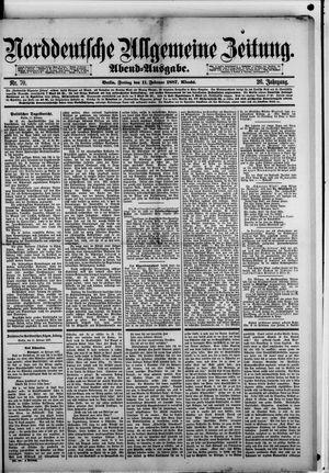 Norddeutsche allgemeine Zeitung vom 11.02.1887