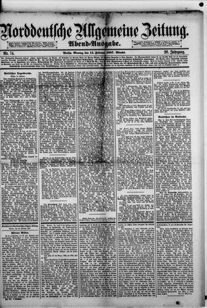 Norddeutsche allgemeine Zeitung vom 14.02.1887