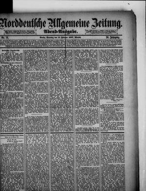 Norddeutsche allgemeine Zeitung on Feb 15, 1887