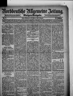 Norddeutsche allgemeine Zeitung on Feb 16, 1887